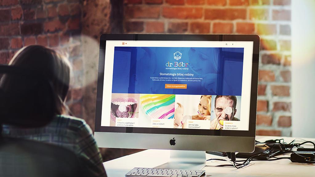 Responsywna strona internetowa dr Bóbr