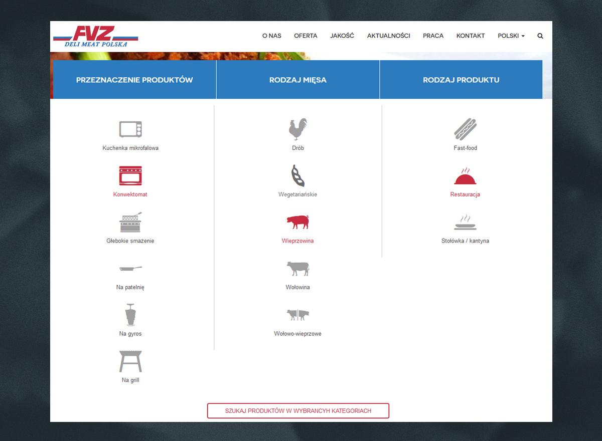Filtrowanie oferty na stronie internetowej