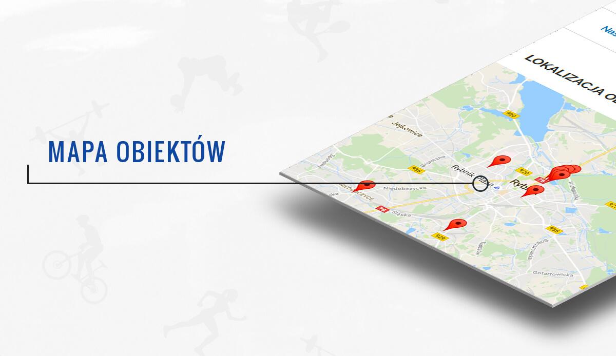 Google maps - mapa obiektów MOSiR
