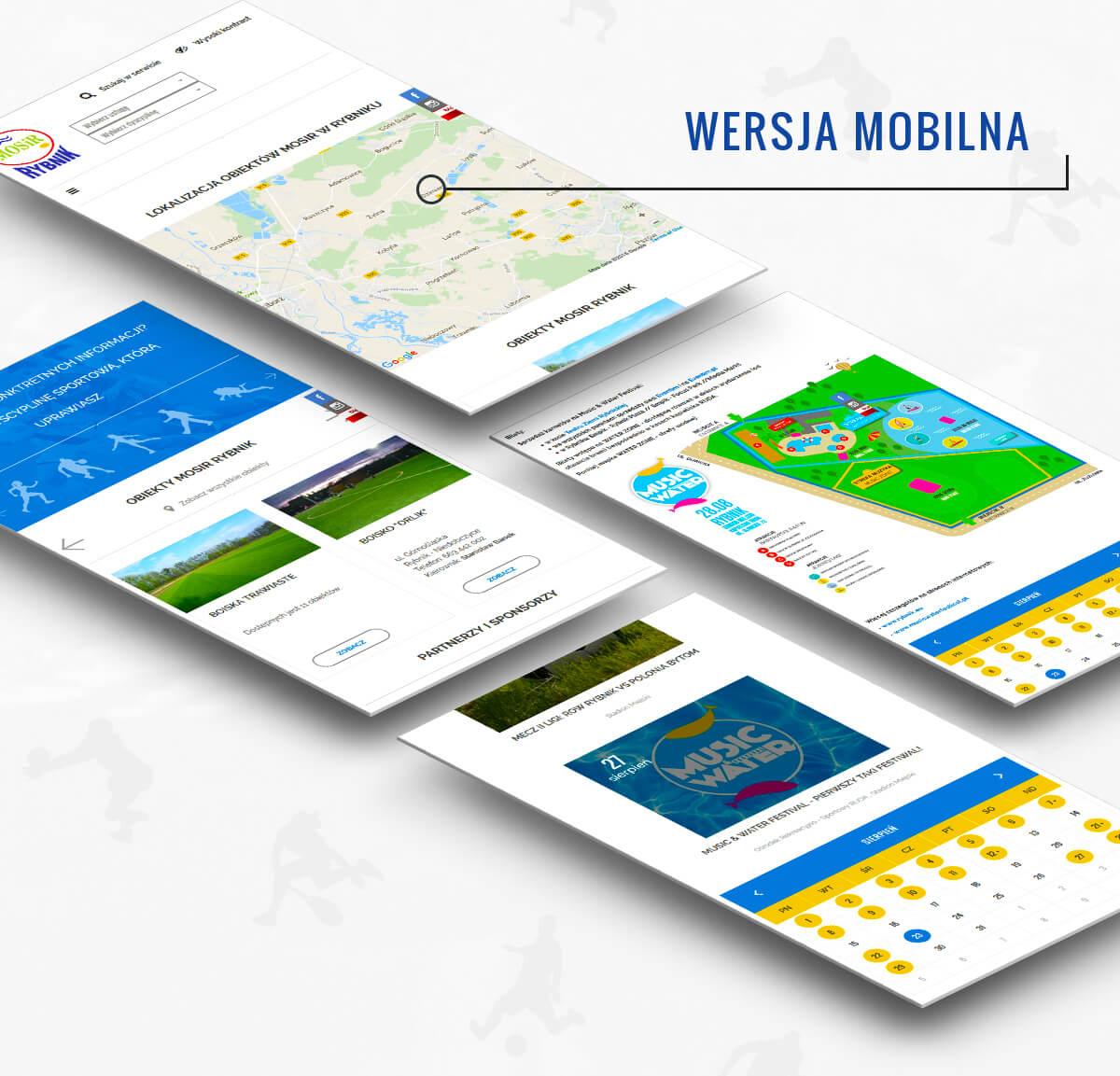 Mobilna wersja strony internetowej mosir.rybnik.pl